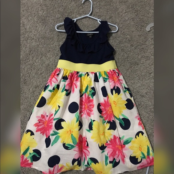 fcb7f1909964 lilt Dresses | Girls Navyyellow Floral Dress Size 6 | Poshmark